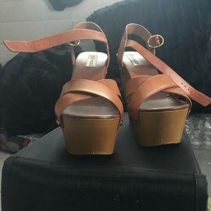Platform wedge shoes